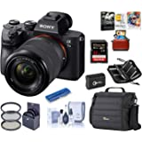 Sony Alpha a7III Full-Frame 4K UHD Mirrorless Digital Camera with 28-70mm Lens Bundle with Camera Bag + Extra Battery + Filte