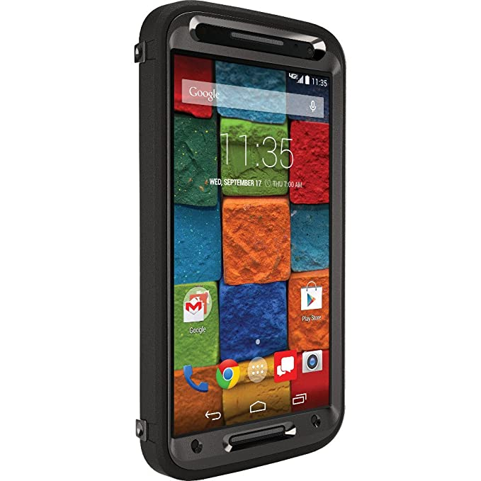 new style 3ca06 86ff9 OtterBox Moto X 2nd Gen. Defender Series Case - Retail Packaging - Black