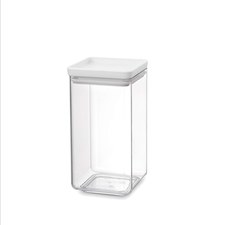 Brabantia Tasty + Bote apilable cuadrado de plástico transparente ...