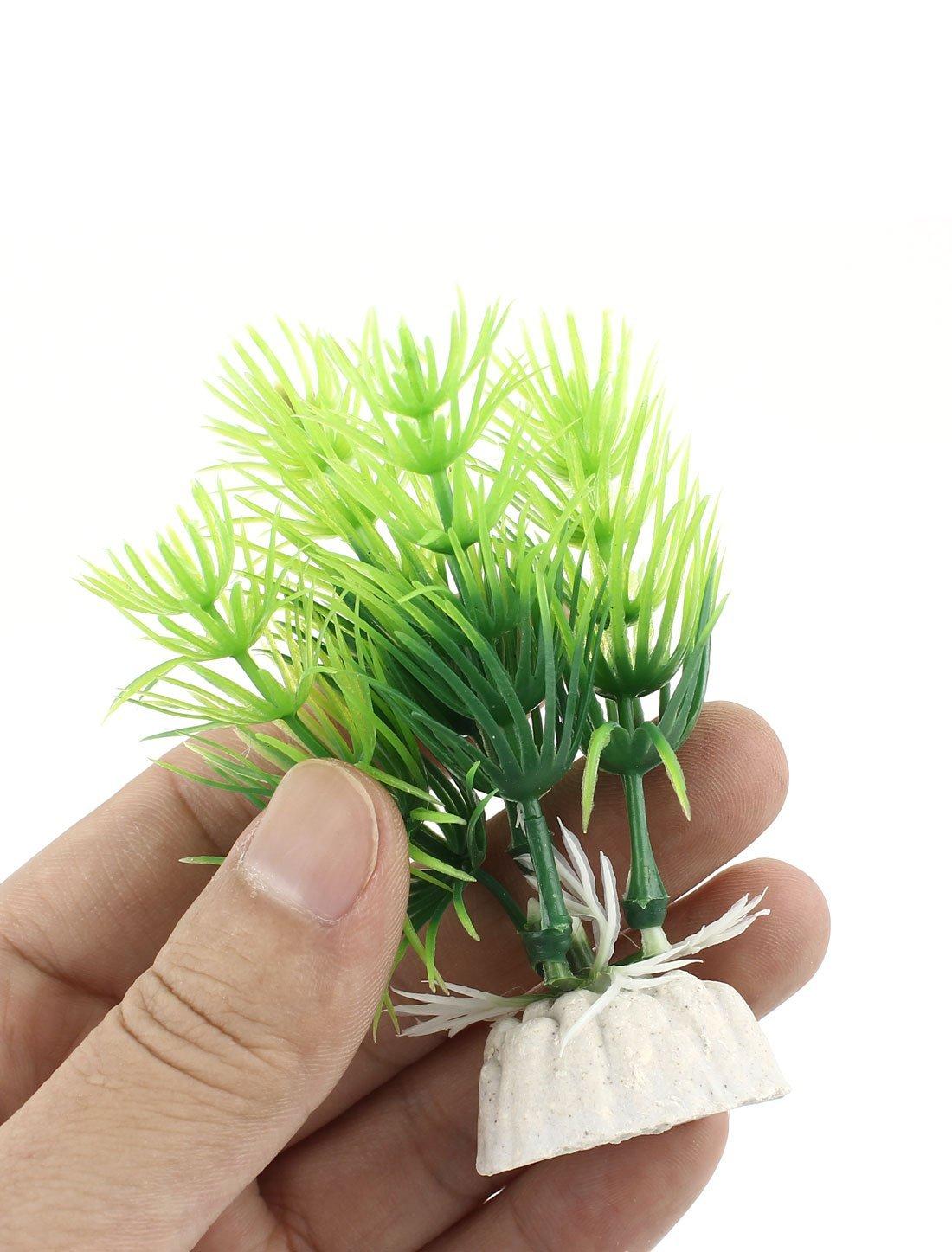 Amazon.com : eDealMax Emulación de plástico Plantas acuáticas peces de acuario tanque de decoración 10pcs Verdes : Pet Supplies
