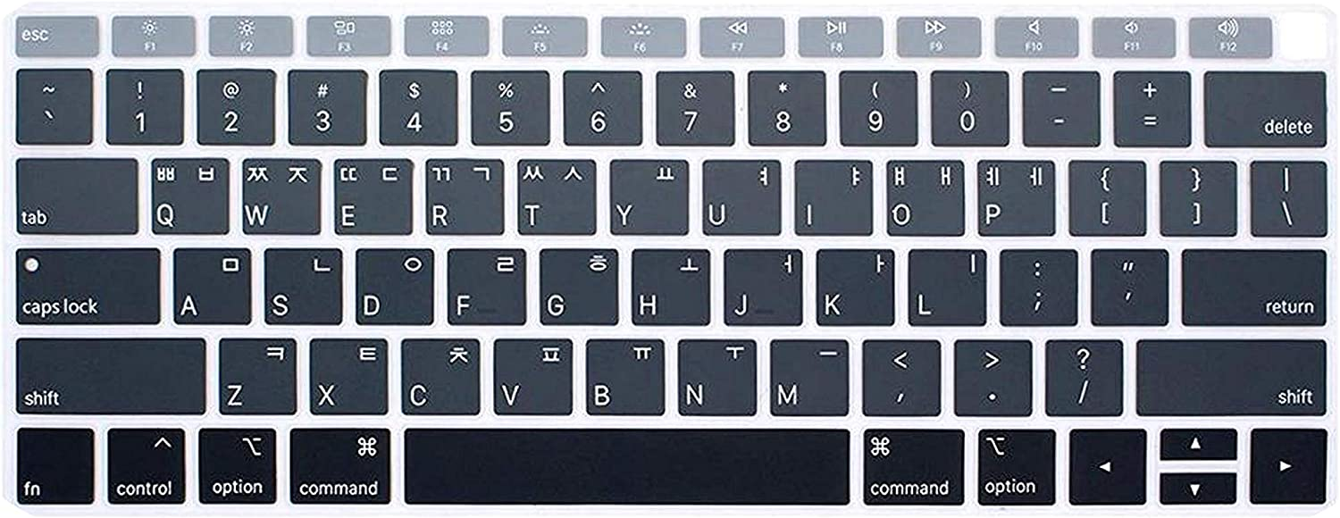 Korean Language Silicone Keyboard Cover Skin for MacBook Newest Air 13 Inch 2018 Release A1932 with Retina-Blue