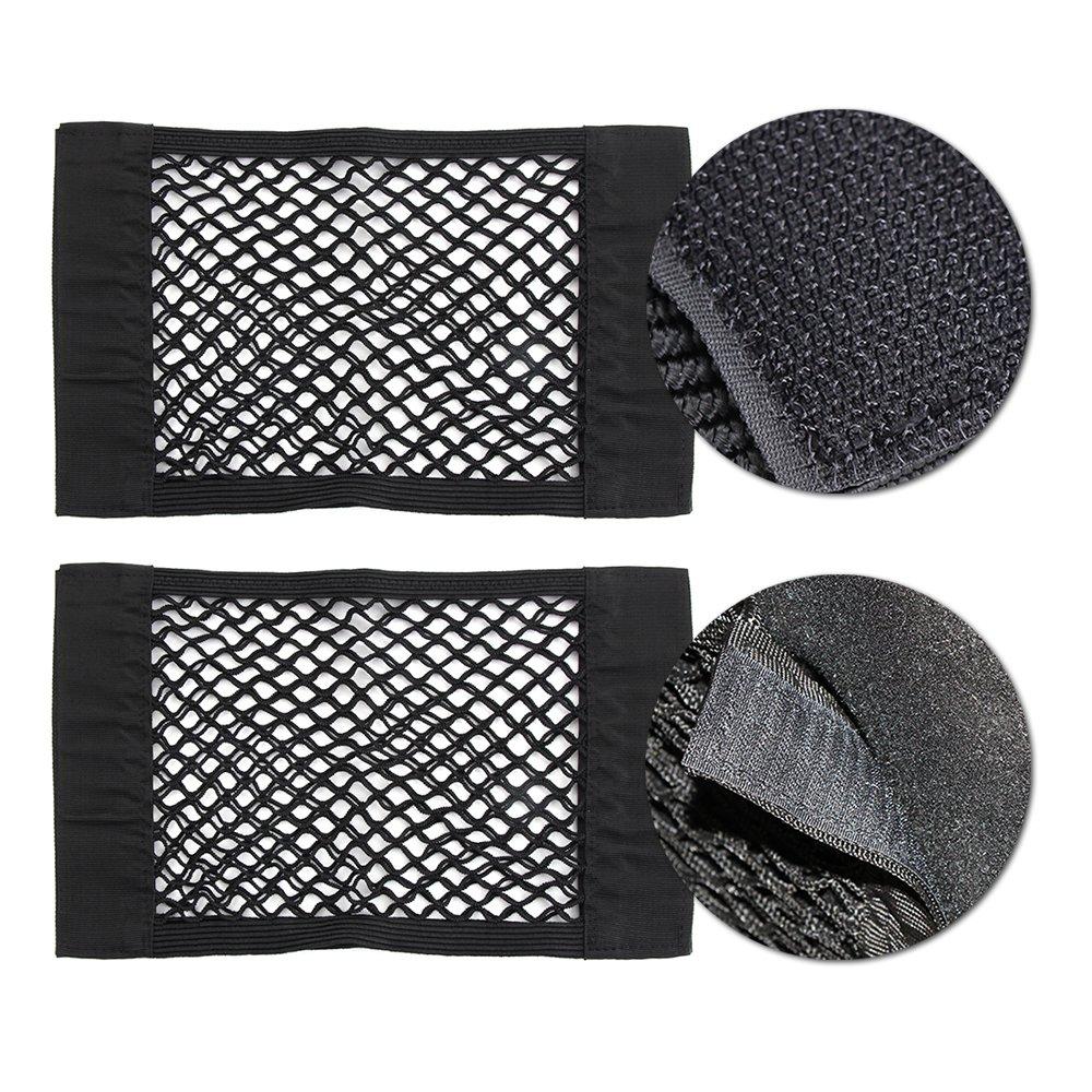 filet de stockage /élastique pour malle arri/ère Sac double couche Organisateur de stockage /élastique Filets de rangement voiture