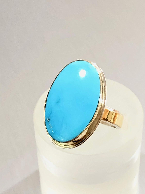 Sleeping Beauty Turquoise Cabochon Free form Perfect Ring Stone Rings Sky Blue Aqua Jewelry Designer ONE Stone Necklace Globe Arizona USA