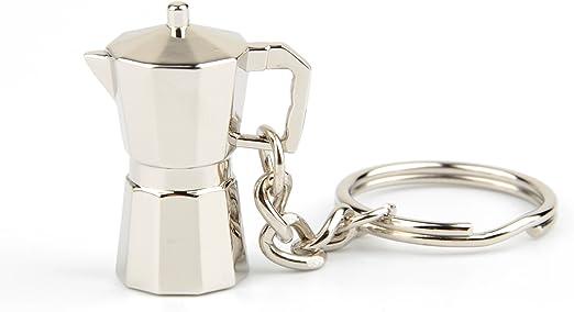 Espíritu Mocha Coffee Pot con forma de accesorios de llavero, italiano café Pot Llaveros, primaria: Amazon.es: Hogar