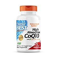 Doctor's Best High Absorption CoQ10 with BioPerine, Non-GMO, Vegan, Gluten Free, Naturally Fermented, Heart Health, Energy Production, 600 mg 60 Veggie Caps