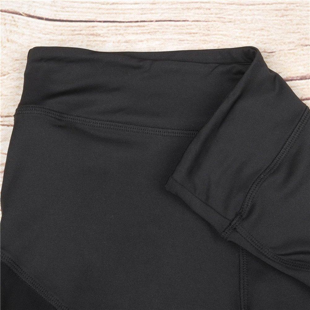 Nulibenna Women's Mesh Stretchy Workout Sportys Yoga Leggings Ninth Pants,Black 1,Medium by Nulibenna (Image #6)