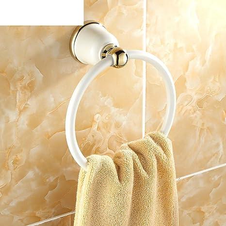 HCP anillo de toalla de pintura blanca a la plancha/Cuarto de baño toallero/
