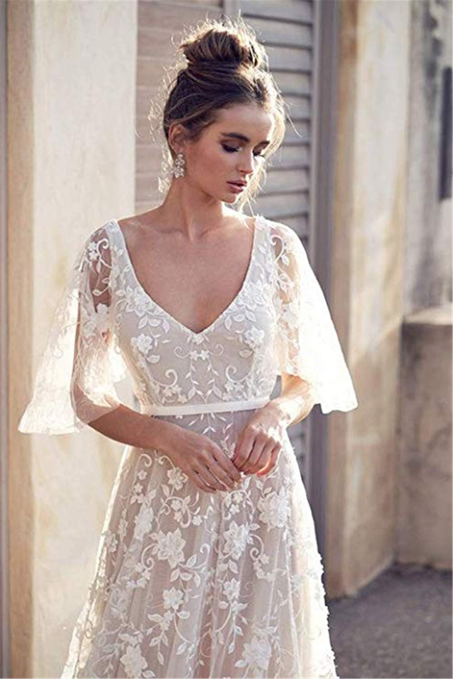 Short Lace Beach Wedding Dress Fashion Dresses