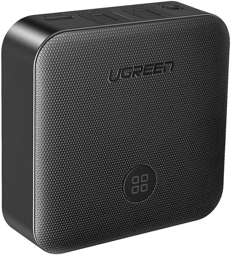 UGREEN Transmisor Receptor Bluetooth, Adaptador Audio con Digital Óptico y 3.5mm Aux Jack, Emisor Receptor Bluetooth con Aptx Baja Latencia 15H A2DP Sonido para TV, PC, Altavoz, Sistema de Estéreo,MP3