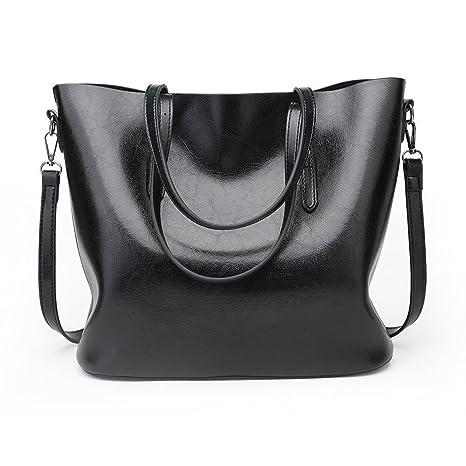 imentha Shopper Bag – Borsa a da donna Custodia in Similpelle con zip e  tasca porta ab01ded804d