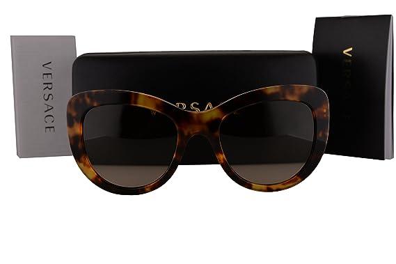 e76e24a355eb Versace VE4325 Sunglasses Havana w Brown Gradient Lens 520813 VE 4325   Amazon.co.uk  Clothing