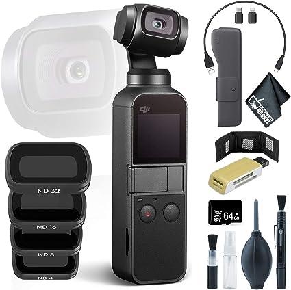 Amazon.com: DJI Osmo Pocket Gimbal + Lector de tarjetas USB ...