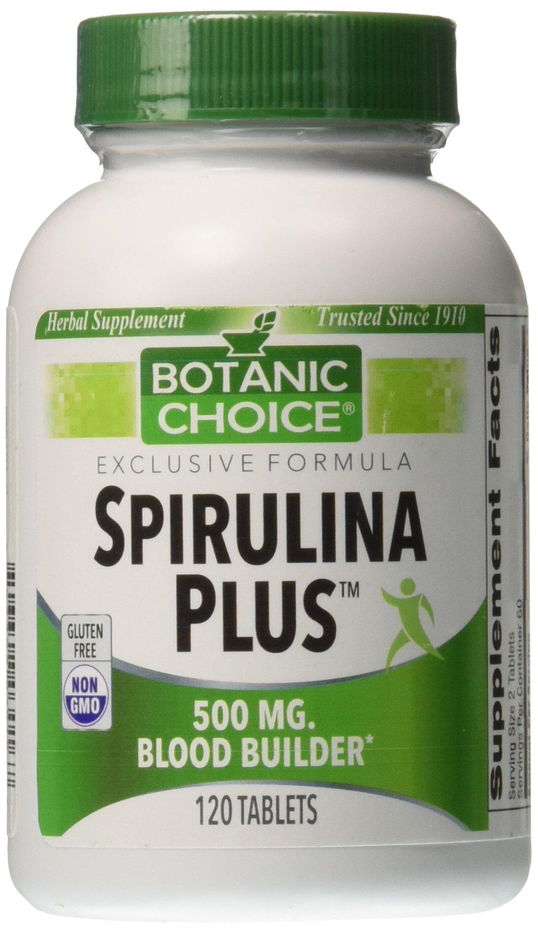 Botanic Choice Spirulina Plus 500 mg,120 Tablets (Pack of 5)