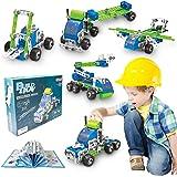 HOMCENT STEM Building Toys for Boy Educational Toys Engineering Building Kit Erector Toys, 175PCS Kids Building Blocks Sets C