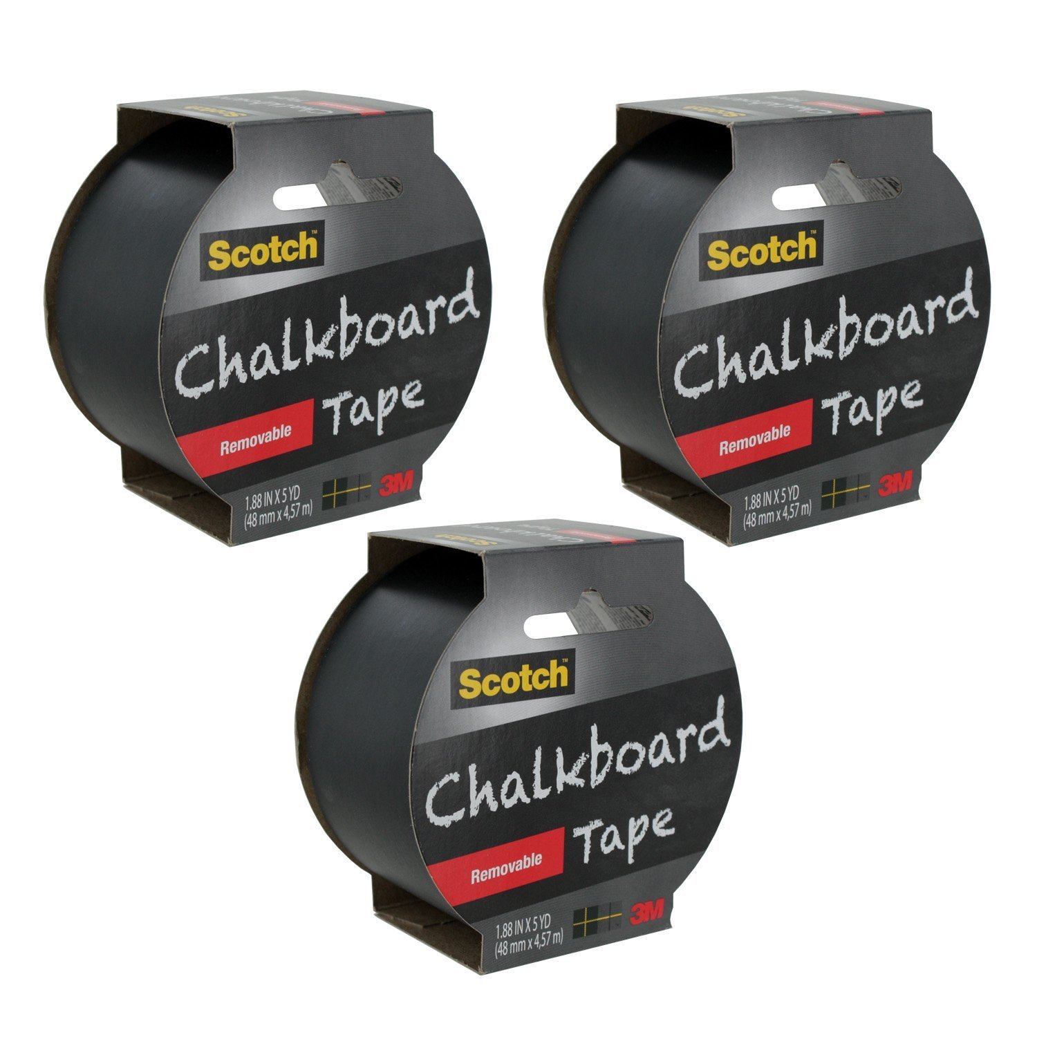 Scotch Chalkboard Tape, 1.88-Inch x 5-Yard, 3-Pack