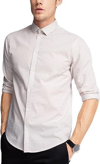 ESPRIT Collection 056EO2F006 Mit Struktur, Camisa para Hombre, Beige, 35 cm (Talla del Fabricalte: 35-36): Amazon.es: Ropa y accesorios