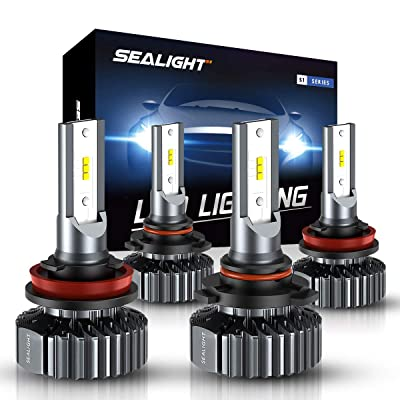 SEALIGHT Scoparc S1 H11 9005 LED Headlight Bulb Kit,High Beam Low Beam,6000K Bright White,Halogen Replacement,Quick Installation: Automotive