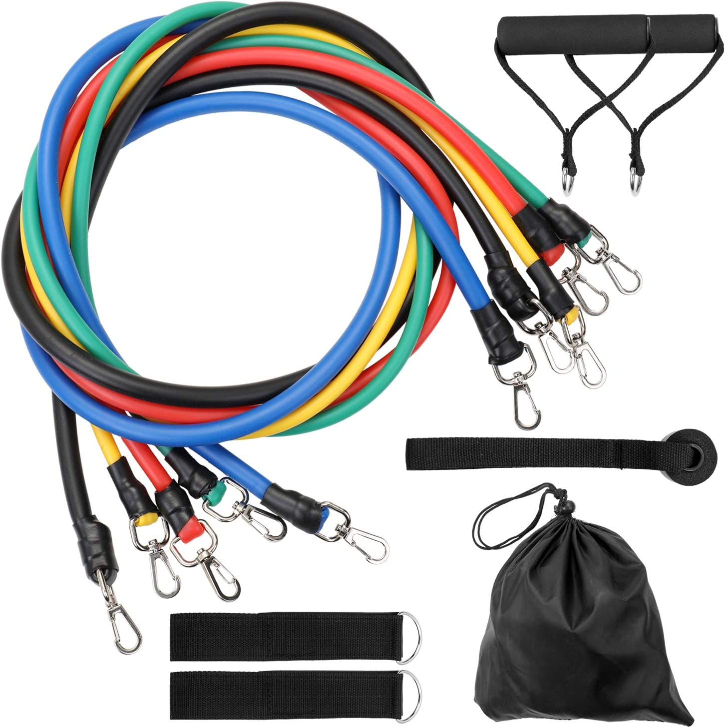 TOMSHOO Widerstandsband Klimmzüge Fitnessbänder Resistance Bands 15-125 lbs M8L4