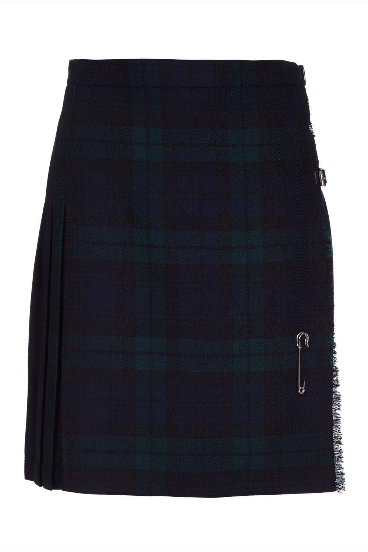 Ladies Short Kilt In Pure New Wool (6, Black Watch)