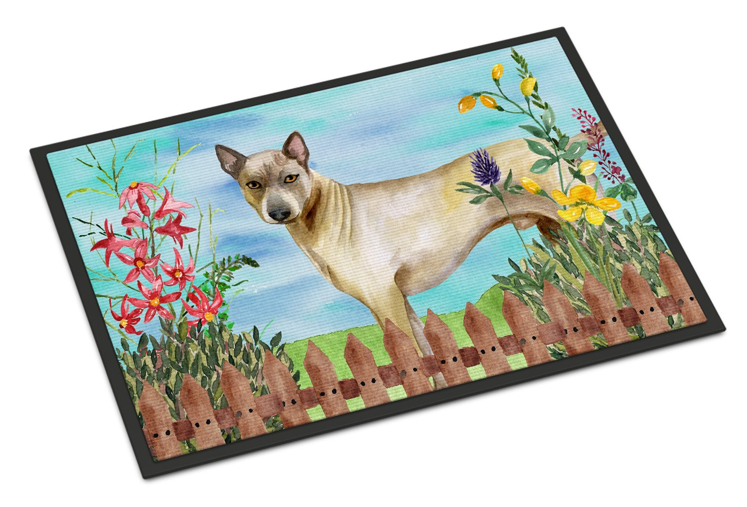 Caroline's Treasures Thai Ridgeback Spring Doormat, 18'' x 27'', Multicolor by Caroline's Treasures