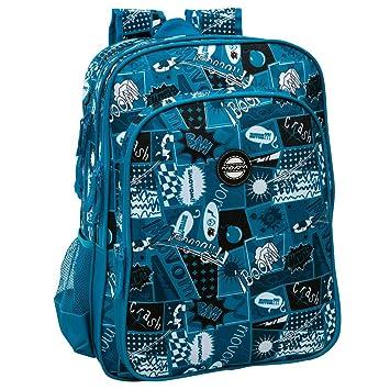 Movom Mochila Adaptable a Carro Doble Compartimento, Diseño Comic, Color Azul, 27.72 litros: Amazon.es: Equipaje