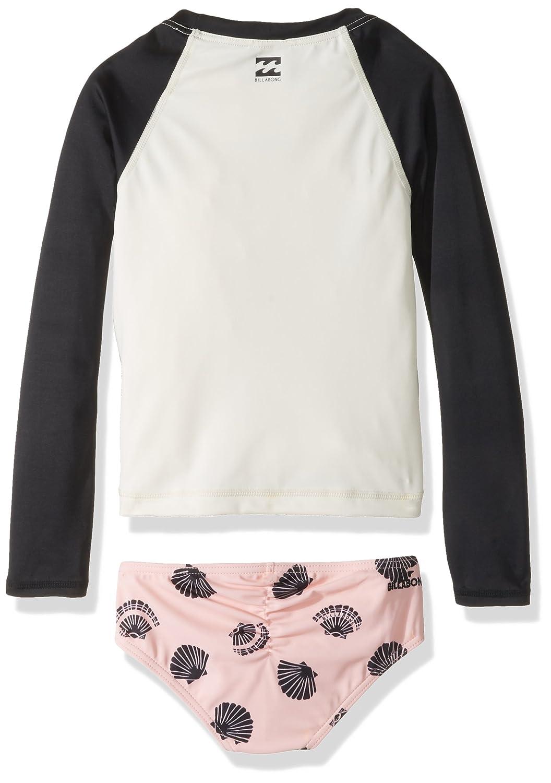 Billabong Girls Conchd Out Long Sleeve Rashguard Swimsuit Set Y207NBCO