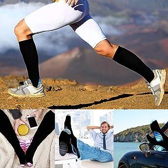 QinMMROPA Calcetines deportivos de compresión hombre Mujer ...