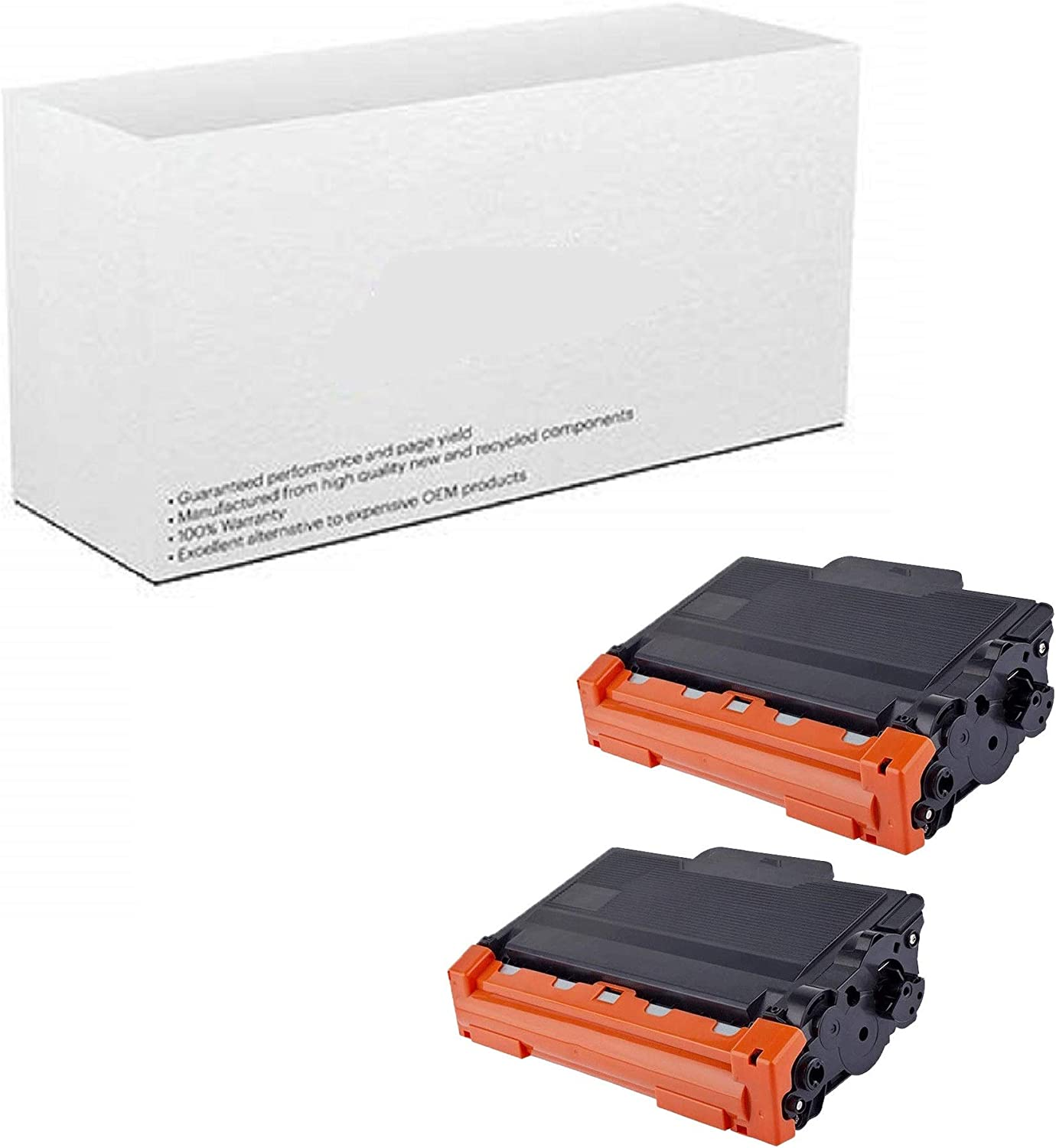 Black AM-Ink 2-Pack Compatible TN750 TN-750 TN720 TN-720 Toner Cartridge Replacement for Brother 5470DW 8710DW 5450DN 8910DW 6180DW 5470DWT 8510DN 6180DWT 8155DN 8150DN 8110DW Printer