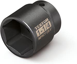 Cr-V 6-Point TEKTON 47753 1//2-Inch Drive by 5//8-Inch Shallow Impact Socket