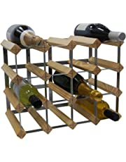 DS Wineware 16 Bottle 4X3 Traditional Wine Rack - Fully Assembled - FSC Certified Natural Pine