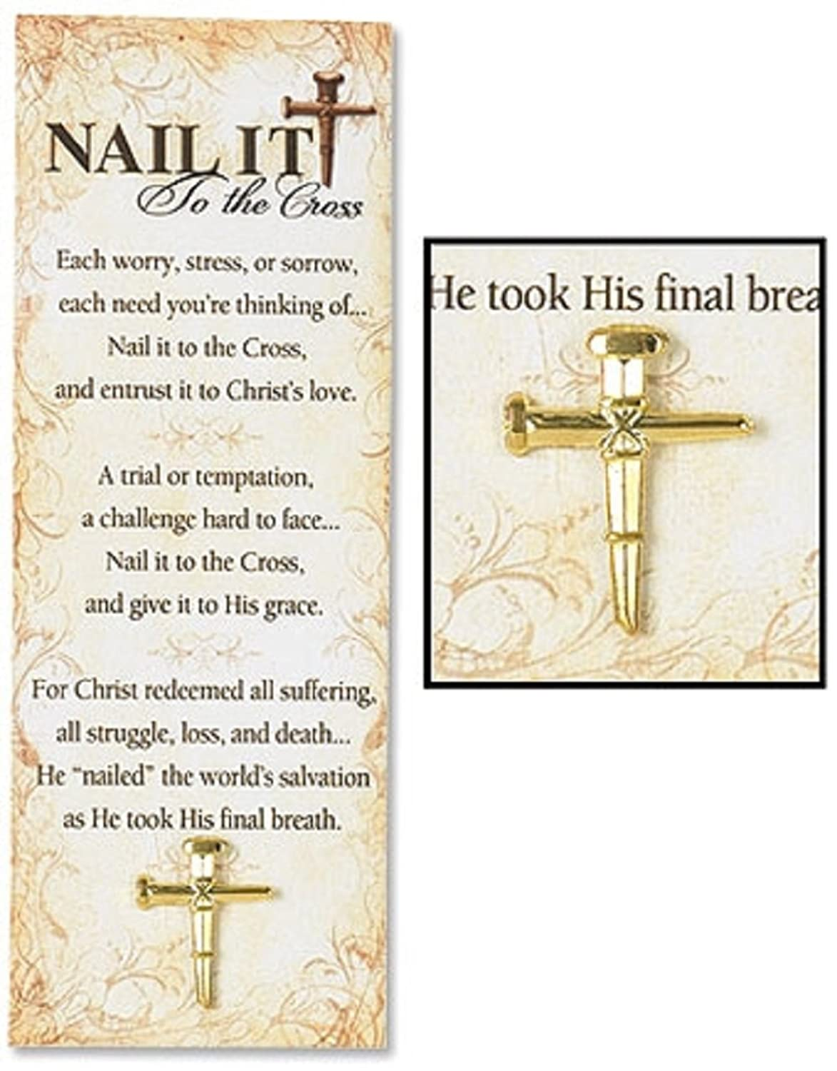 Amazon.com: 12PC Nail It To the Cross Lapel Pin with Bookmark: Jewelry