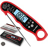 """KULUNER TP-01 Waterproof Digital Instant Read Meat Thermometer with 4.6"""" Folding Probe Backlight & Calibration Function for C"""