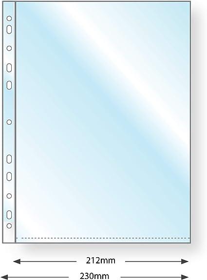 Fundas de plástico para encuadernación y archivador, tamaño A5, paquete de 100 o 1000 A5 Plus Margin Unpunched/Pack of 100: Amazon.es: Oficina y papelería
