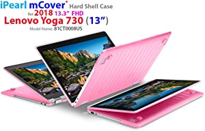 """mCover Hard Shell Case for New 2018 13.3"""" Lenovo Yoga 730 (13) Laptop (NOT Compatible with Yoga 710/720 / 910/920 Series) (Yoga 730 Pink)"""