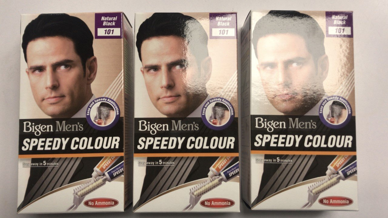 Bigen Men's Speedy Colour Natural Black 101 (pack of 3)