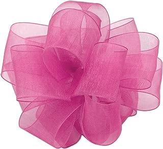 "product image for Offray Berwick LLC 706211 Berwick Simply Sheer Asiana Ribbon - 1-1/2"" W X 100 yd - Pretty Pink Ribbon"