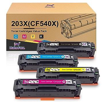 HaloFox CF540X 203X Cartuchos de tóner CF541X CF542X CF543X ...