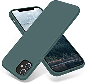JELE Compatible with iPhone 12 Case and iPhone 12 Pro Case 6.1 inch(2020),Premium Soft Liquid Silicone Rubber Full-Body Protective Anti-Scratch Shockproof Bumper Case(Pine Green)