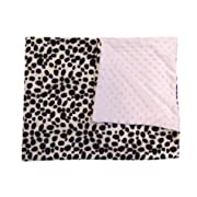 "Luvfabrics Minky Dot White Dalmatian Baby Blanket Throw White Toddler Bedding 29"" x 36"""