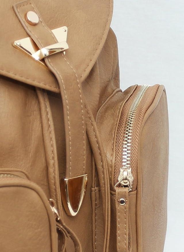 Primark - Bolso mochila para mujer beige camel: Amazon.es: Ropa y accesorios
