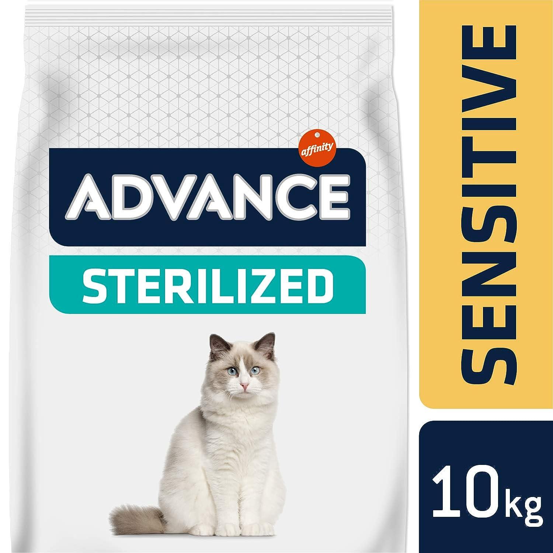 Advance Advance Sensitive Pienso para Gato Esterilizado Adulto con Salmón - 10000 gr: Amazon.es: Productos para mascotas