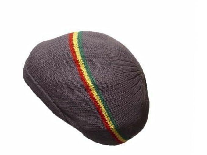 bb8840dd1 Amazon.com: FIREBUN Gray Dread Tam Cap Rasta Hat Crown Beret Beanie ...