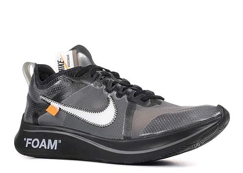 e3d38e1bd0ff5 Nike Zoom Fly x Off White - Black/White-Cone-Black Trainer: Amazon ...