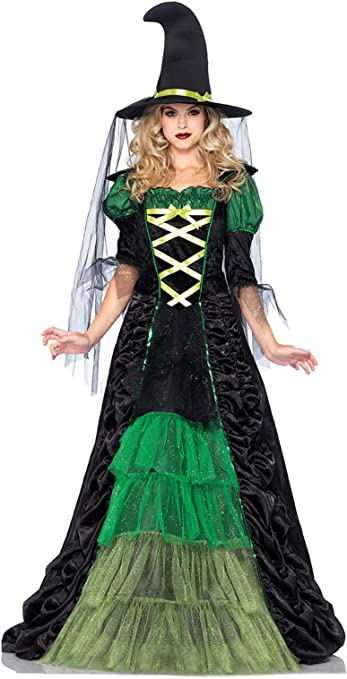 New Size S US Women/'s Size Small 4 to 6 School Play Book Day 5-Piece Storybook Witch Costume Hansel and Gretel Salem SALE