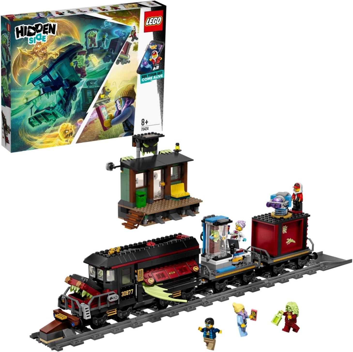 LEGO - Hidden Side Expreso Fantasma Juguete de construcción con realidad aumentada, incluye tren y minifiguras de fantasmas para atraparlos, Novedad 2019 (70424): Amazon.es: Juguetes y juegos