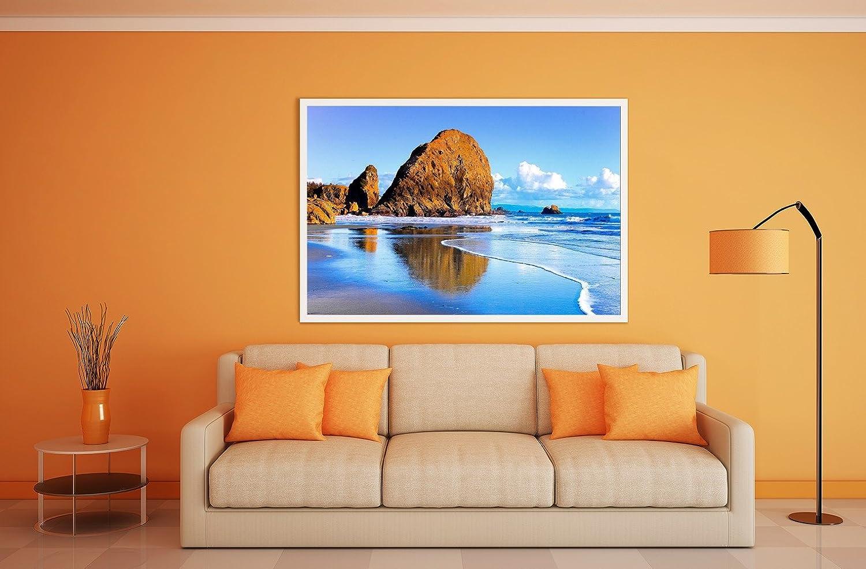 Grandeur: 8.5 x 11-22 x 28 cm Chute deau /à Tropiques Paysages 10104 Poster en Vinyle Affiche Plastifi/ée Murale Pop-Art D/écoration Int/érieure avec Dessin Color/é