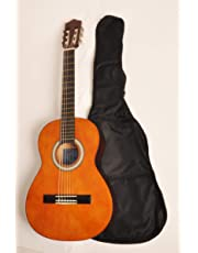 Beginner Classical Acoustic Guitar 3/4 Size (36 inch) w/Carry Bag Omega Class Kit 3/4 Natural