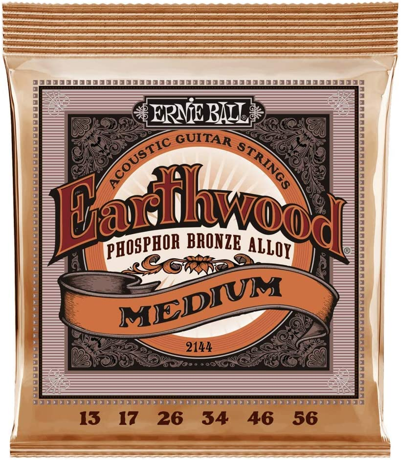 Cuerdas de guitarra acústica de Phosphor Bronze de Ernie Ball Earthwood Medium - 13-56 Gauge