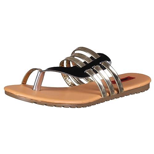 8dd1df15c 1 WALK Comfortable DR Sole Women-Flats Sandals Fancy WEAR Party WEAR ...
