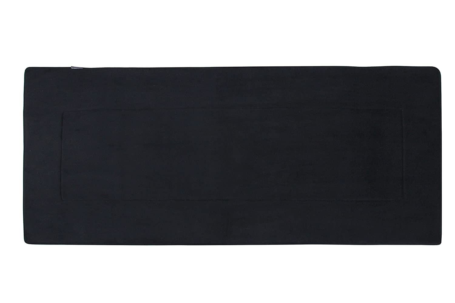 FABBRICA HOME Ultra-Soft Extra-Thick Memory Foam Runner (2 ft x 5 ft, Black)